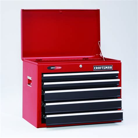 craftsman 6 drawer tool box quiet glide chest craftsman 26 quot 5 drawer quiet glide tool chest red black