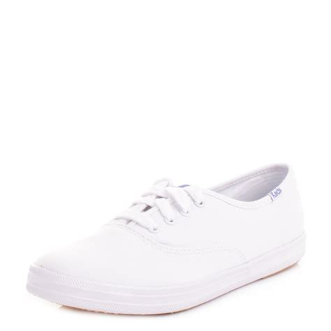 womens keds chion canvas originals white plimsolls