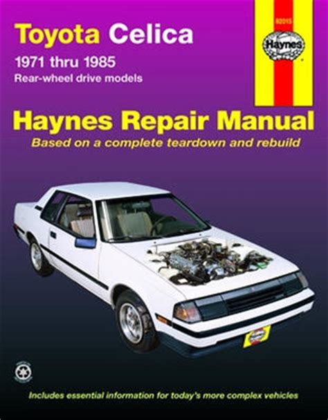 free car repair manuals 1982 toyota celica spare parts catalogs toyota celica haynes repair manual 1971 1985 hay92015