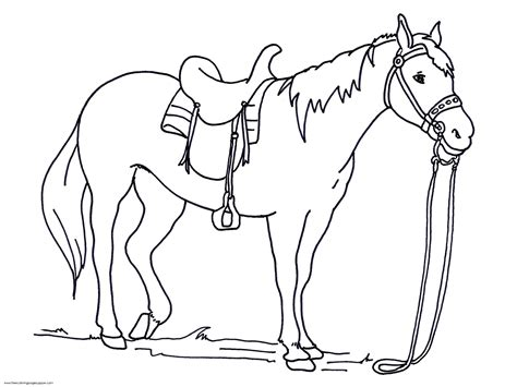 simple horse coloring page realistic horse coloring pages to download and print for free