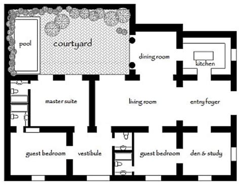 mexican house floor plans home ideas
