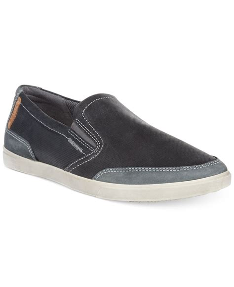 ecco collin casual slip on shoes in black for