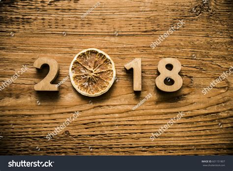 new year wood happy new year 2018 wooden digits stock photo 601151807