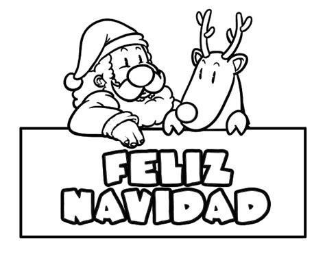 imagenes que ponga feliz navidad dibujo de felices navidades para colorear dibujos net