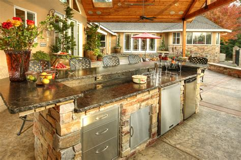 How To Build An Outdoor Kitchen Island by Outdoor Kitchen Idea Gallery Galaxy Outdoor