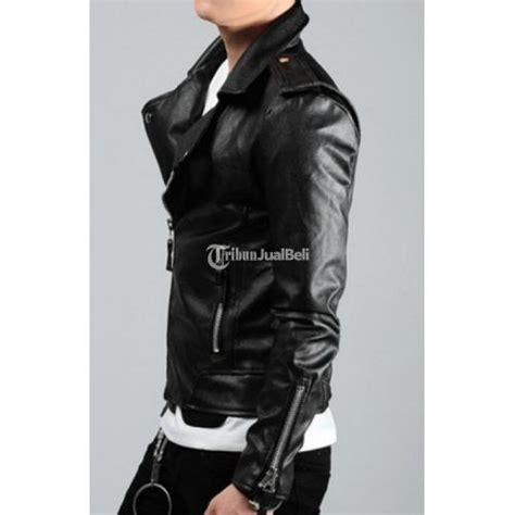 Jaket Kulit Pria Korea Style jaket kulit pria korean style biker leather jacket kulon