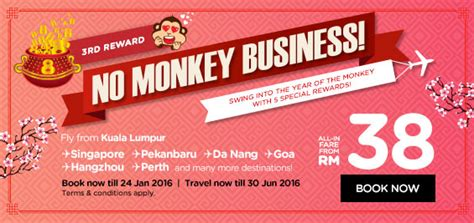 new year promotion 2016 malaysia airasia rm38 new year low fare promotion 2016