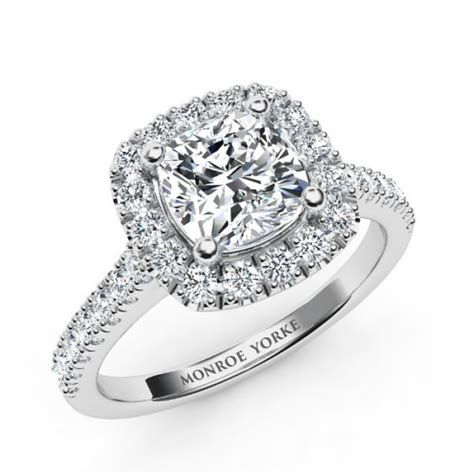 cushion cut engagement rings with no halo summer cushion cut halo engagement ring