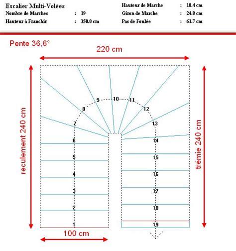 calcul pour un escalier 2 4 tournant