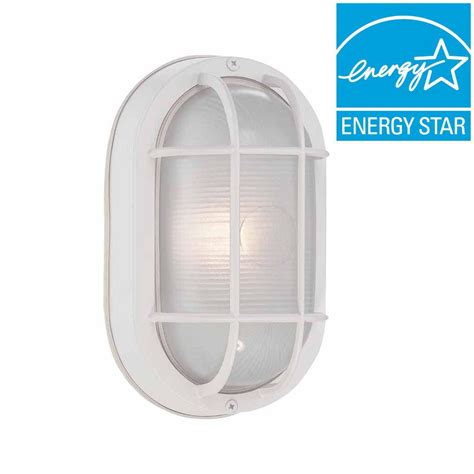 white outdoor wall lantern hton bay white outdoor led wall lantern hb8822led 06