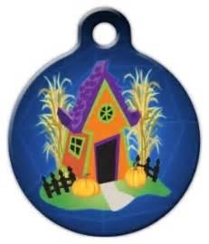 haunted dog house spooky haunted dog house pet id tag dog tag art