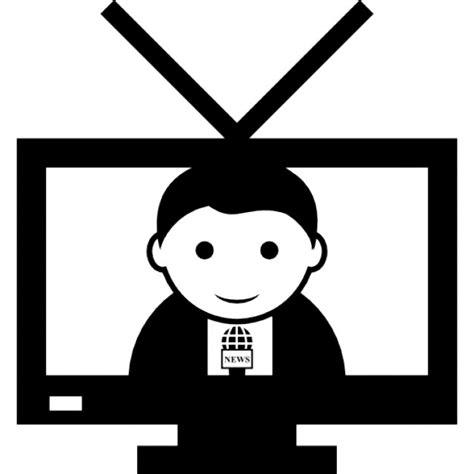 reporter decken auf kontakt reporter auf tv bildschirm der kostenlosen icons