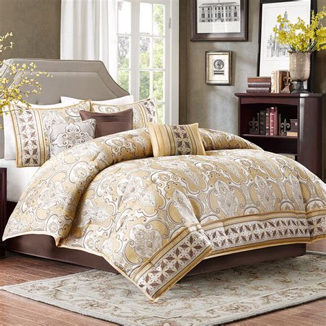 King Bedding by Multi Color Bed Bag Luxury 7 Pc Comforter Set Cal King