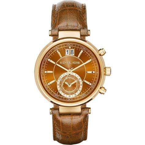 montre michael kors montre sawyer mk2424 montre cuir whisky femme sur bijourama n 176 1 de la