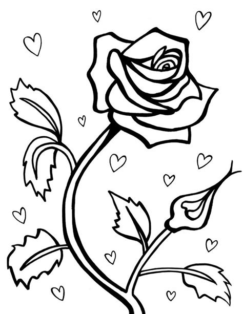 Free Printable Roses Coloring Pages For Kids Print Out Colouring Pages