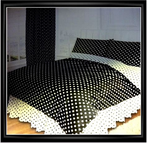 black and white polka dot bedding new black white polka spot dot dotty luxury duvet set