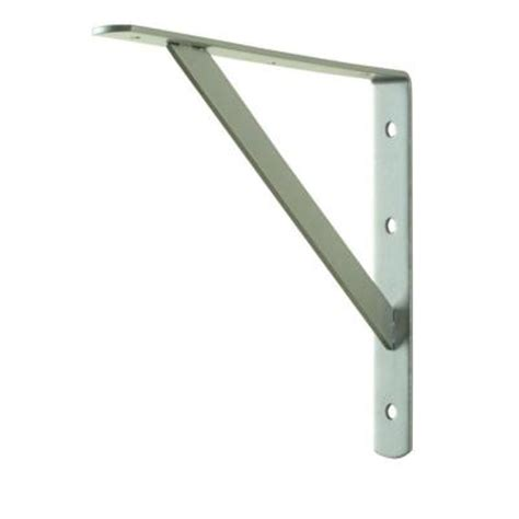 12 in x 8 in satin nickel heavy duty shelf bracket 14829