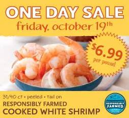 by shellie october 21 2012 this post may contain affiliate links whole foods one day cooked shrimp sale 10 19 saving