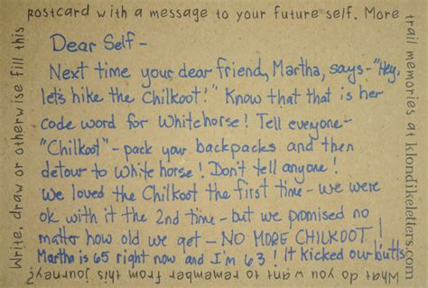 letter to future self no more chilkoot klondike letters project 1442