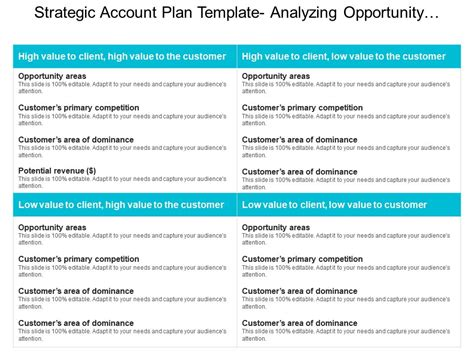 Strategic Account Plan Template Analyzing Opportunity Areas Ppt Exle Powerpoint Slide Strategic Account Plan Template
