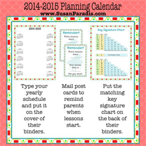 Calendar Key 2014 2015 Calendar Key Signature Chart And Reminder