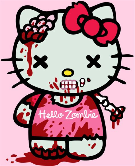 hello kitty zombie coloring page hello kitty zombie women s t shirt size large