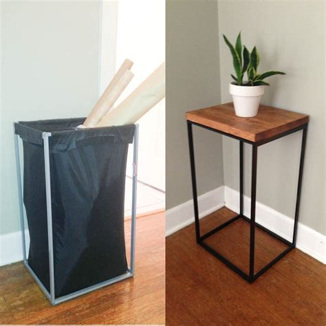 ikea side table hacks diy side table from old ikea laundry her the clever