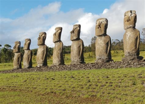 carved stone heads start  easter island adventures