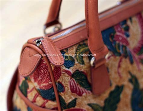 Tas Batik Vintage batik tulis lawasan tas kulit kombinasi batik tenun