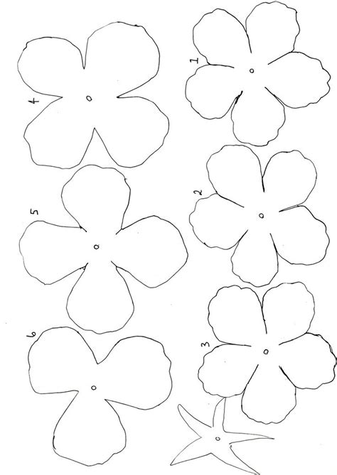 printable paper flowers 43 best templates images on pinterest flower template