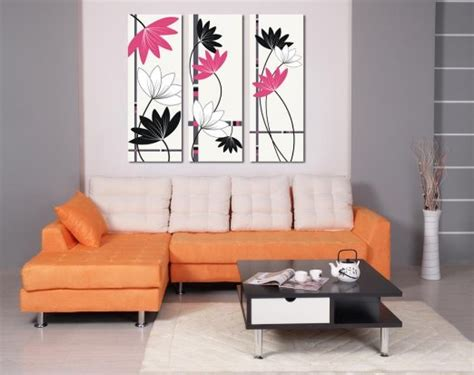 Pink Black And White Wall Decor by Buy Espritte Large Black And White And Pink Abstract