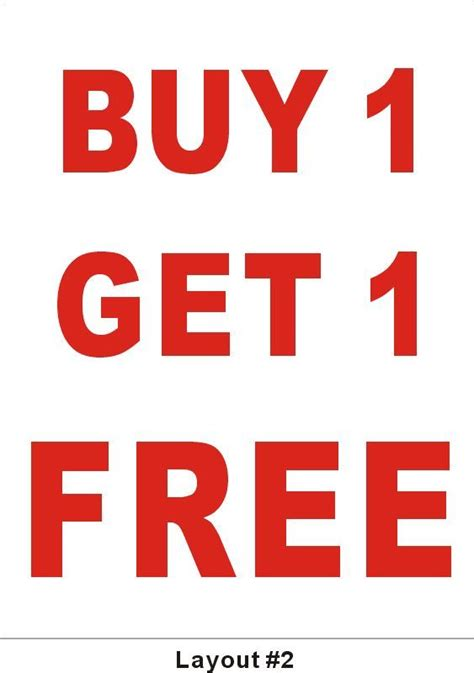 Buy One Get One 3ftx4ft buy 1 get 1 free buy one get one free banner