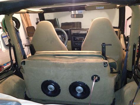 Jeep Sub Subwoofer Inside Of A Jeep Wrangler Rear Seat Page 5