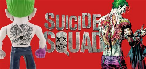 joker dragon tattoo new squad collectible reveals the joker sporting a