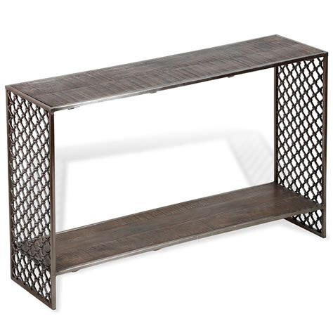 gray wood console table ajax industrial loft grey wood console table kathy kuo home