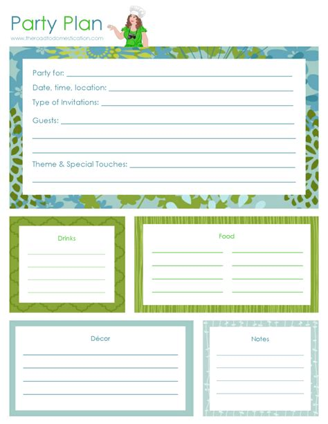 printable event planner the debut of printables from the road to domestication