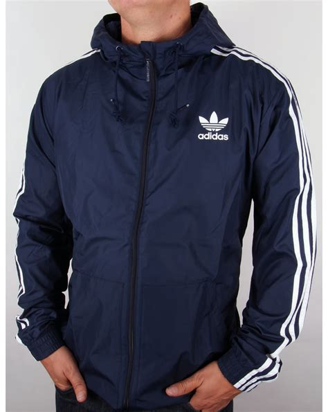 Jaket Navy adidas originals itasca windbreaker navy originals