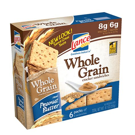 whole grains snacks lance whole grain cracker sandwiches cs products