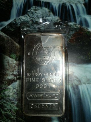 10 troy ounce silver bar engelhard bullion silver bars rounds price and value guide