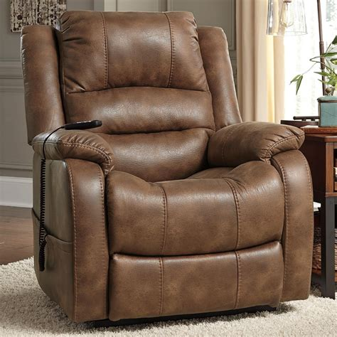 ashley recliner chairs ashley signature design yandel 1090012 faux leather power