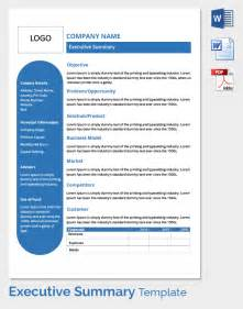 Summary Plan Description Template by Free Executive Summary Template In Word Pdf