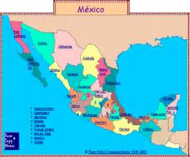 map of mexico by state mexico map by state