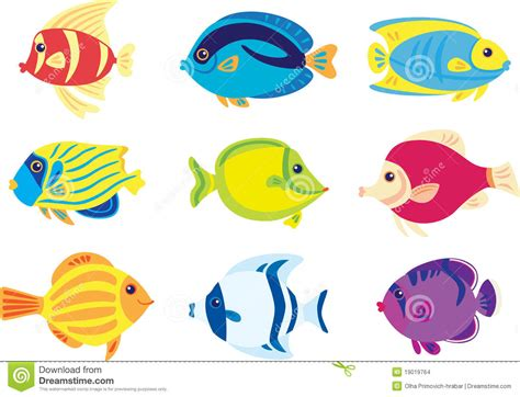 pesci clipart pesci tropicali illustrazione vettoriale illustrazione di