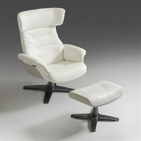 white chair and ottoman set divani casa ray modern white and grey chair ottoman set