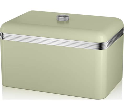 buy swan retro bread bin green free delivery currys
