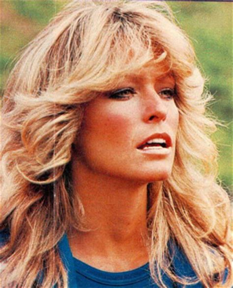 feathered 1970 hair farrah fawcett hair icon farrah fawcett zimbio