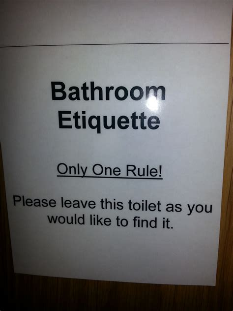 Bathroom Etiquette Workplace Bathroom Etiquette Signs Pictures To Pin On
