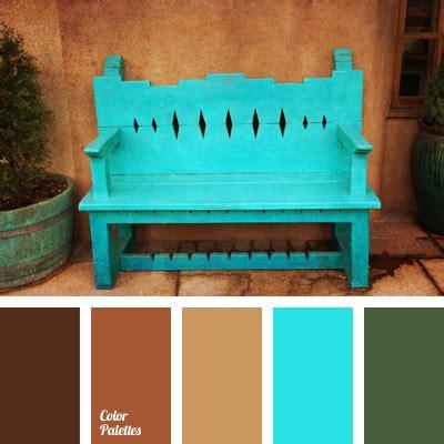 light blue  brown color palette ideas