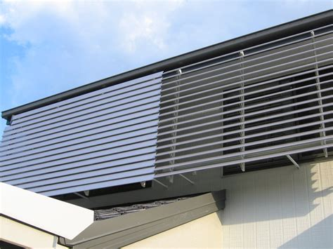 Metal Louvre Awnings by Filtalite Aluminium Louvre Awning Hartlands Blinds