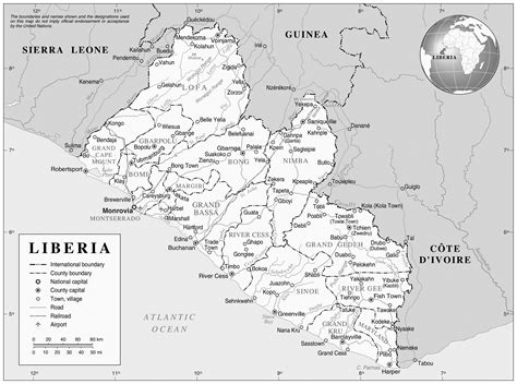 where is liberia located on the world map maps of liberia map library maps of the world